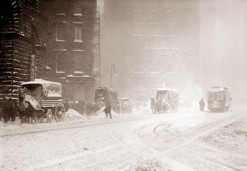 NY in the snow, 1910