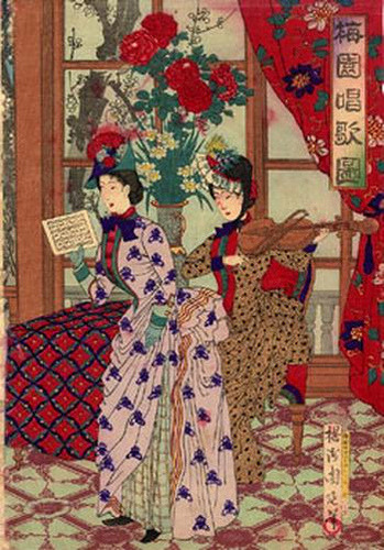 Chikanobu Toyohara, The Meiji Musical Entertainment, 1880s on Flickr.