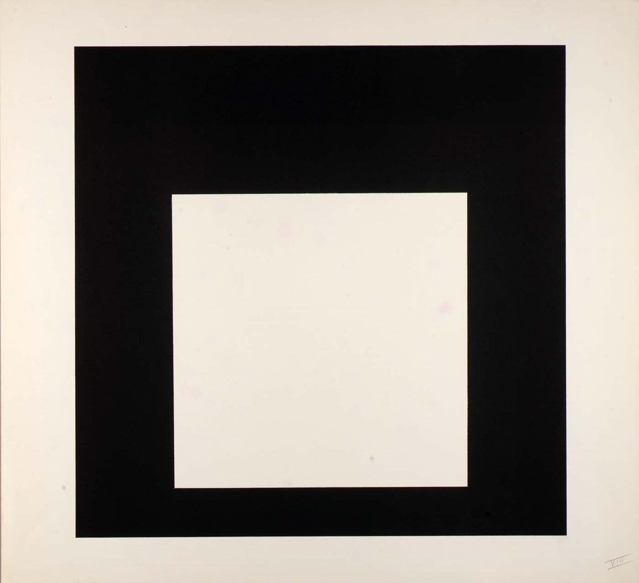 Day and Night VIII (Day and Night, suite) 1963   Josef Albers    Born: 															Bottrop, Germany 1888   Died: 															New Haven, Connecticut 1976  color lithograph on paper image: 15 3/4 x 15 3/4 in. (40.0 x 40.0 cm) Smithsonian American Art Museum