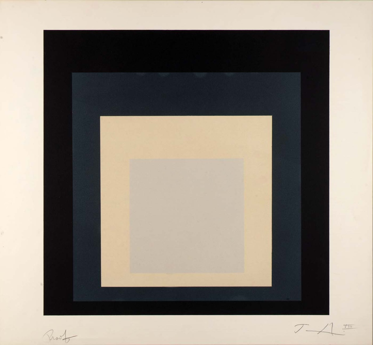 Day and Night VIII (Day and Night, suite) 1963   Josef Albers    Born: 															Bottrop, Germany 1888   Died: 															New Haven, Connecticut 1976  color lithograph on paper image:15 3/4 x 15 3/4 in. (40.0 x 40.0 cm) Smithsonian American Art Museum