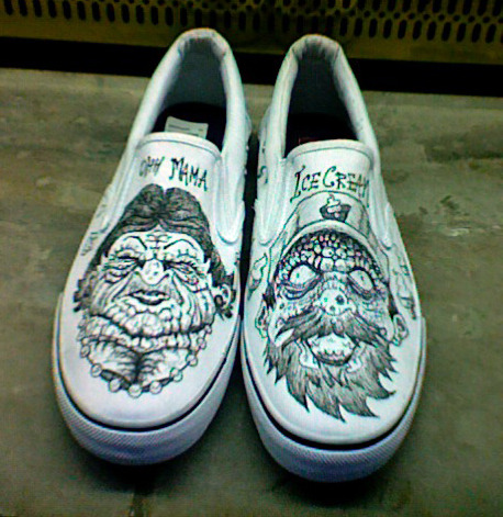 my old shoes.  Drawn by Kyle Weber
