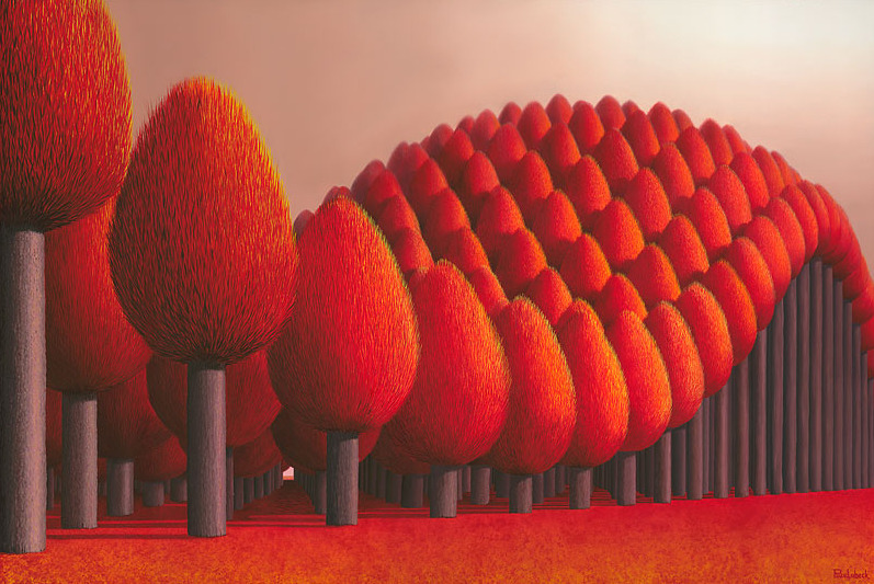Patricia Van Lubeck - Populus Flucta (oil on canvas, 120 x 80 cm) Dutch neo-surreal artist , living in New Zealand since 2005.