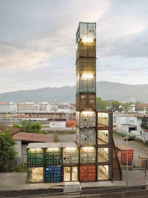 Shipping Container Chic from Around the World | Freitag store, Zurich Image Courtesy of Freitag