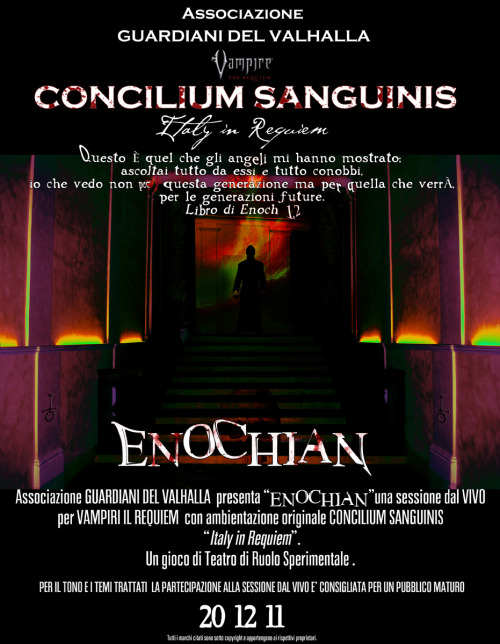 """Enochian"" A Poster for LARP. CoPyrIGhT ReseRVeD"