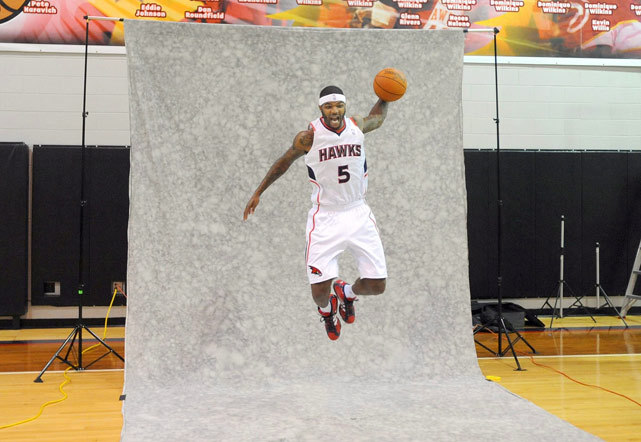 Josh Smith shows off his hops during the Hawks Media Day on Monday. Will he have the Hawks flying when the NBA season kicks off in 10 days? (EPA) GALLERY: Awkward NBA Media Day MomentsAMICK: Nuggets got their man by keeping NeneROSENBERG: Stern is just another lousy owner