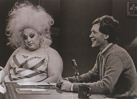 Divine on Late Night with David Letterman, 1982.