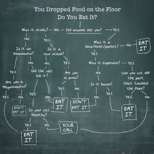Forget the five second rule! Love this! Thanks to Jenn for emailing it to me!