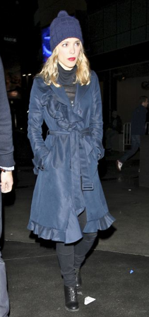 "Rachel McAdams wore the Kate Spade New York trista trench in midnight to the ""Watch The Throne"" concert in Los Angeles. She looks adorable!"