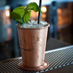 Mint julep at Scratch, 401 Castro St, Mountain View, CA 94041. Photo (c) Paula Wirth.