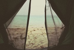I want to camp on the beach so bad! Nick- we are buying a tent and going. No questions asked.