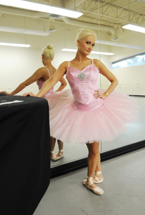 "Check out Holly Madison in her ballerina outfit. The 'Peepshow' star suited up in a custom-made tutu that she'll wear during a Dec. 17 guest appearance at the Nevada Ballet Theatre's production of ""The Nutcracker."" Read more Photo Credit: Denise Truscello"
