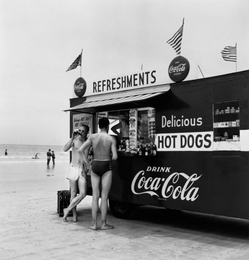 The Beach.  Photo by Bernice Abbott (1954)