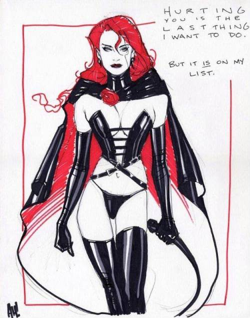 The Black Queen by The Amazing Adam Hughes