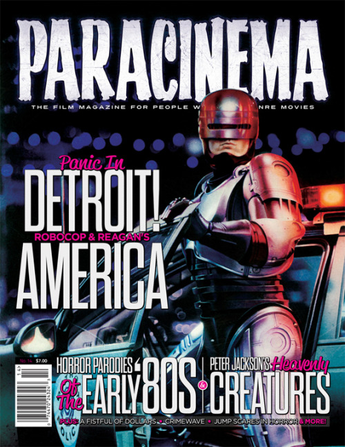 Paracinema is the print film magazine for people who love genre film. Independently produced since 2007. ISSUE 14 FEATURES: Panic in Detroit: RoboCop and Reagan's America by Andreas Stoehr Blood on the Rubber Chicken: Horror Parodies of the Early '80s by Mike White Peter Jackson's Heavenly Creatures from Hell by Todd Garbarini Christ Stopped at San Miguel: Italy's Economic Miracle and A Fistful of Dollars by Jef Burnham Crimewave: The Story Behind the Movie Sam Raimi Would Rather Forget by Christian Sellers Catching the Bus: Jump Scares in Horror Film by C. Rachel Katz Slavery in the 70's Cinemas: Mandingo and Drum by Paul Talbot