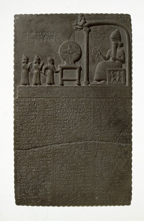 The Sun God Tablet Excavated/Findspot Sippar, Iraq860BC-850BCNeo-Babylonian Dynasty Middle Babylonian  The British Museum