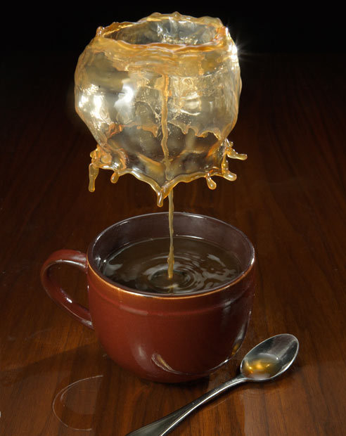 High Speed Photo of a Coffee Splash