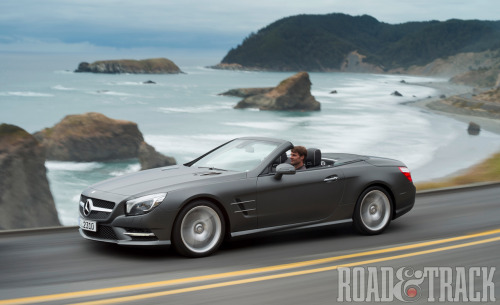 2013 Mercedes-Benz SL Aluminum brings the weight down, twin turbos bump the power up!  (Source: Road & Track)