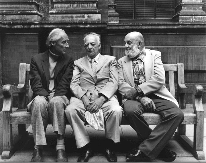 "Paul Joyce     Bill Brandt, Brassaï and Ansel Adams, London      1976   ""Photography is not a sport. It has no rules. Everything must be dared and tried!""  Bill Brandt  ""To me photography must suggest, not insist or explain.""   Brassaï  ""You don't take a photograph, you make it.""  Ansel Adams"