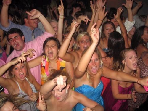 Drunk sorority girls party