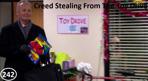 Great Things About The Office - #242 - Creed Stealing From The Toy Drive