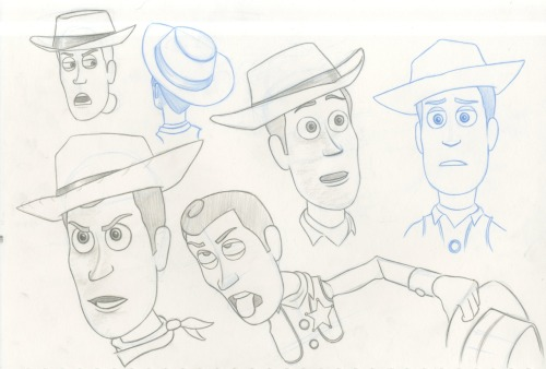 One of a few model sheets of woody.