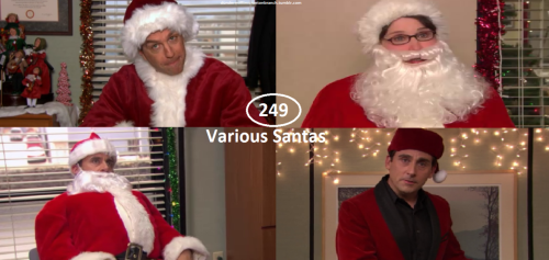 Great Things About The Office - #249 - Various Santas  Andy as Normal Santa Phyllis as Female Santa Michael as Normal Santa Michael as Classy Santa