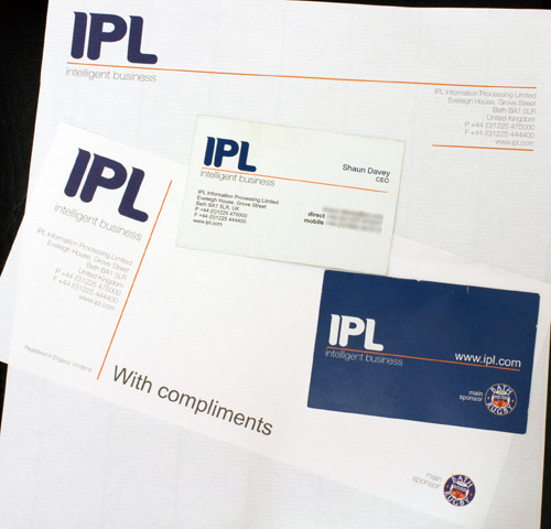IPL - Information Processing Limited / Stationary Redesign A stationary resign for the Bath (UK), based IT company. http://www.ipl.com