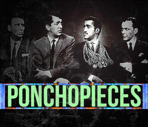 ponchopieces:  rat pack poncho. we are what you eat.