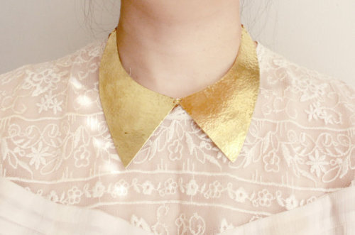 I love this 'Brass Hammered Collar'! It would make a great Christmas gift, $78.00
