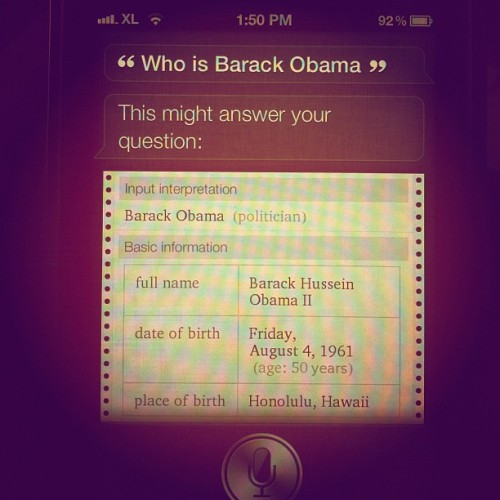 Siri is an awesome shit pal! (Taken with instagram)