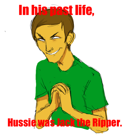 eridan-ambeaura:  No wait What if Jack the Ripper Is Hussie's ancestor  That one guy from Friday the 13th, didn't that black janitor eat his heart and like, become him? So did Hussie then eat that black janitor's heart and via transitivity become him too?