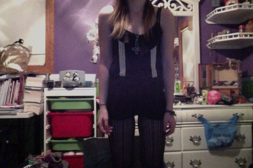 I apologize for being awkward. But my friend let me borrow her romper and it's adorable