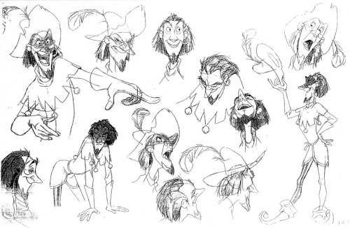 Clopin, Hunchback of Notre Dame, model sheet.