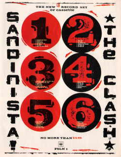 80srecordparty:  Advertisement for Sandinista!The Clash, CBS Records/UK (1980)