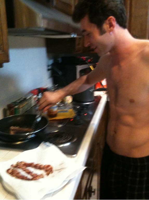 deafdumbblind:  James Deen and Bacon.  The most perfect combination of all time. Come to my bed, James.  Leave bacon crumbs if you want.