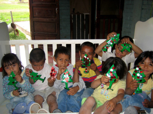 """These children attend one of the few government-run centers in Honduras catering to families with severe economic hardships, and children of working mothers. Just before Christmas 2010, they made these decorations to bring home and spread the holiday cheer!"" - Peace Corps Youth Development Volunteer Lisa Lavezzo"