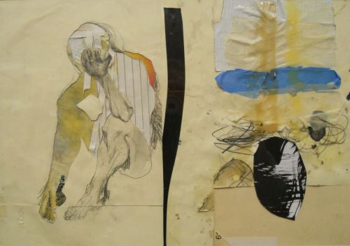 willwhelan:Figure/Test Strip, collage with paper, latex and glue, 2011
