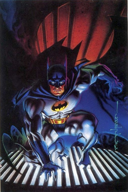 Brian Stelfreeze's cover for Batman: Shadow of the Bat #0, 1994.