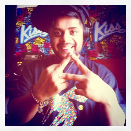 PYRAMID live on the guestmix! #rocklikethis (Taken with Instagram at Kiss FM)