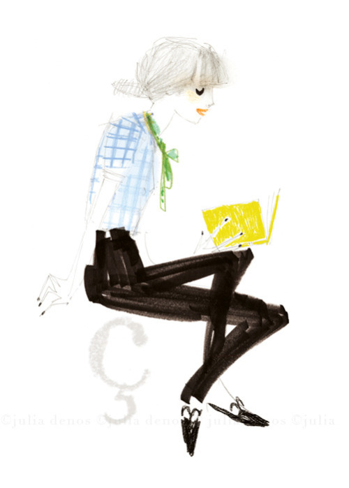 (via Julia Denos Art & Books - Portfolio - Julia Denos_Fashion_Cedille Fille 1.jpg)