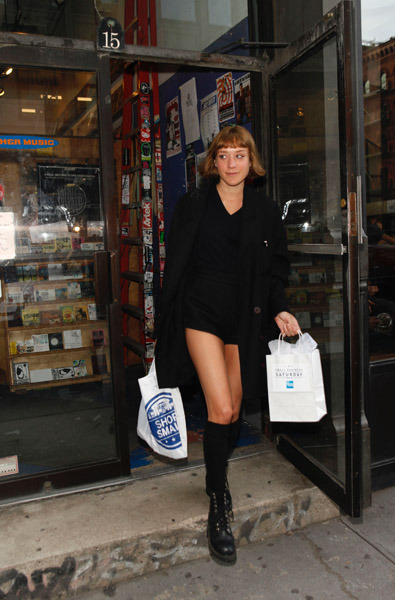 suicideblonde:  Chloe Sevigny out in NYC, November 26th Legs for days!