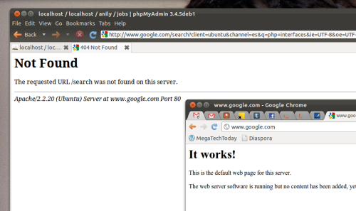 Hey @google whats going on??#google messed up again.#apache #ubuntu #linux