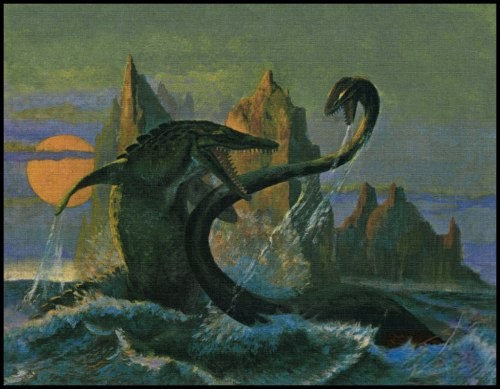 mirrormaskcamera:  Sea Monsters of Long Ago - John Hamberger (via The Pictorial Arts: Frazetta-esque)