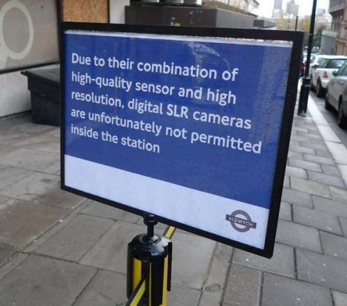 DSLRs Banned from UK Tube Station