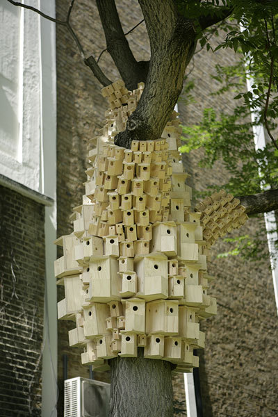 Suburban Birds by London Fieldworks, founded by artists Bruce Gilchrist and Jo Joelson.