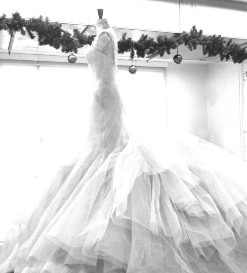 :O // eliesaab:  A wedding dress being made with Christmas spirit at the ELIE SAAB atelier.