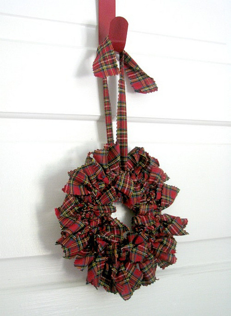 red tartan plaid Holiday Wreath on Flickr.