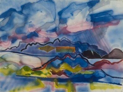 "Keith Crown ""Storm Over Ranchos"", 1969 http://www.bekiborman.com/2009/09/keith-crown/"