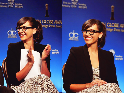 Rashida Jones during the 69th annual Golden Globe Award Nominations announcements at The Beverly Hilton hotel on December 15, 2011 in Beverly Hills, California.