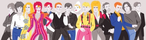 Happy 65th Birthday David Bowie illustration by Michele Rosenthal :: via michelerosenthal.blogspot.com